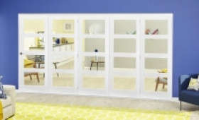 White 4l Roomfold Deluxe ( 5 X 686mm Doors ) Image