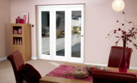 White Bifold 3 Door System (1800mm - 6ft) Set Image