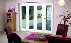 White Bifold 4 Door System ( 4 X 1