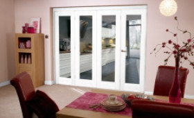 White Bifold 4 Door System (2400mm - 8ft) Set Image