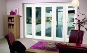 White Bifold 5 Door System (5 X 2