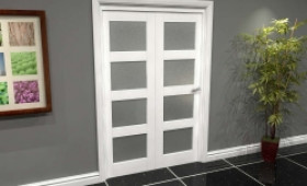 White Frosted 4l Roomfold Grande (2 + 0 X 610mm Doors) Image
