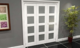 White Frosted 4l Roomfold Grande (2 + 1 X 533mm Doors) Image
