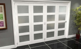White Frosted 4l Roomfold Grande (4 + 0 X 762mm Doors) Image