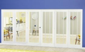 White Lincoln Roomfold Deluxe ( 3 + 3 X 610mm Doors) Image