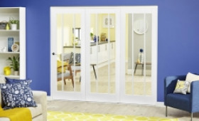 White Lincoln Roomfold Deluxe ( 3 X 610mm Doors) Image