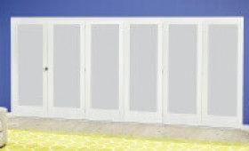 White P10 Frosted Roomfold Deluxe ( 5 + 1 X 610mm Doors ) Image
