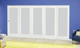 White P10 Frosted Roomfold Deluxe ( 5 X 686mm Doors ) Image