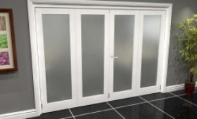 White P10 Frosted Roomfold Grande (2 + 2 X 686mm Doors) Image