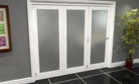 White P10 Frosted Roomfold Grande (3 + 0 X 762mm Doors) Image