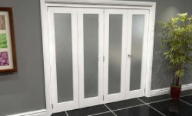 White P10 Frosted Roomfold Grande (3 + 1 X 533mm Doors) Image