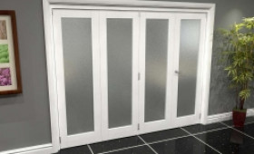 White P10 Frosted Roomfold Grande (3 + 1 X 610mm Doors) Image