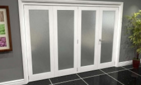 White P10 Frosted Roomfold Grande (3 + 1 X 686mm Doors) Image