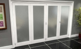 White P10 Frosted Roomfold Grande (3 + 1 X 762mm Doors) Image