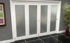 White P10 Frosted Roomfold Grande (4 + 0 X 762mm Doors) Image
