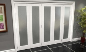 White P10 Frosted Roomfold Grande (4 + 1 X 610mm Doors) Image