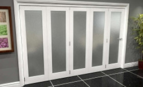 White P10 Frosted Roomfold Grande (5 + 0 X 686mm Doors) Image