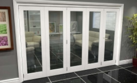 White P10 Roomfold Grande (4 + 1 X 686mm Doors) Image