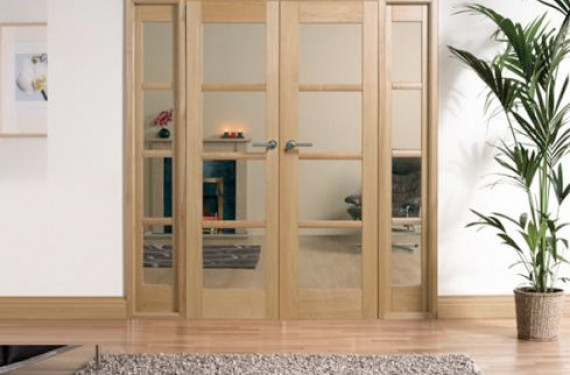 1904x2031mm oak oslo w6 internal french doors with