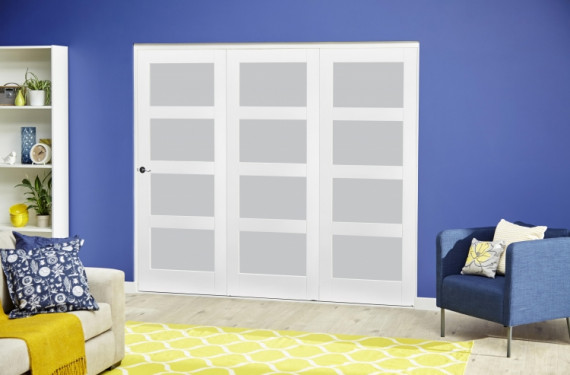 White 4l Frosted Roomfold Deluxe ( 3 X 686mm Doors )