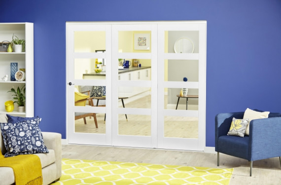 White 4l Roomfold Deluxe ( 3 X 610mm Doors )