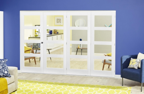 White 4l Roomfold Deluxe ( 4 X 533mm Doors )