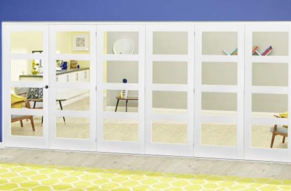 White 4l Roomfold Deluxe ( 5 + 1 X 610mm Doors )