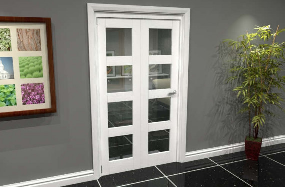 White 4l Roomfold Grande (2 + 0 X 573mm Doors)