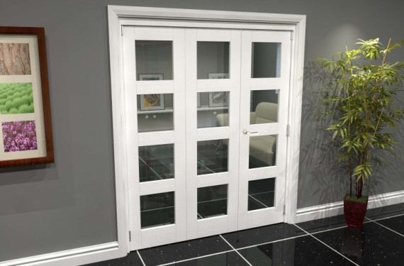 White 4l Roomfold Grande (2 + 1 X 610mm Doors)