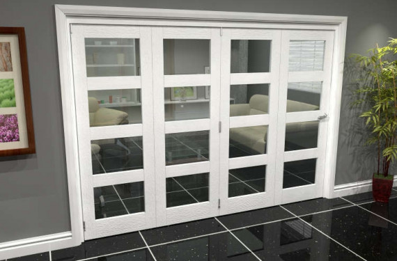 White 4l Roomfold Grande (4 + 0 X 686mm Doors)