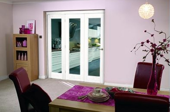 White Bifold 3 Door System (3 X 2'3