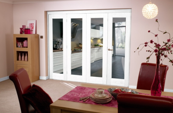 White Bifold 4 Door System (2400mm - 8ft) Set