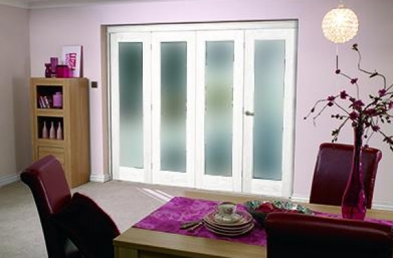 White Bifold 4 Door System ( 4 X 21