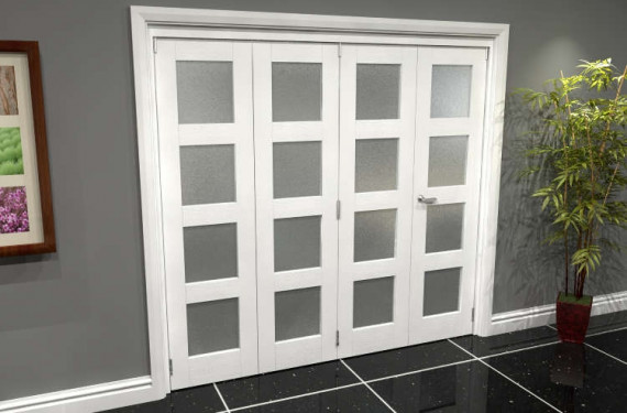 White Frosted 4l Roomfold Grande (3 + 1 X 533mm Doors)