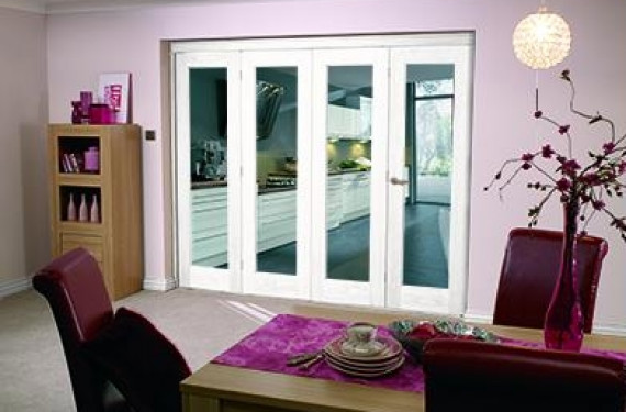 White Bifold 4 Door System (4 X 2'0
