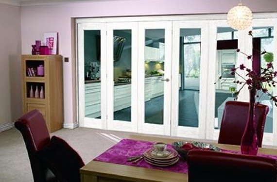 White Bifold 6 Door System (3 + 3 X 2'3