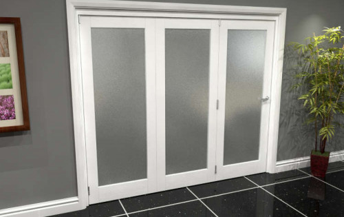 White Glazed Roomfold Grande - Frosted