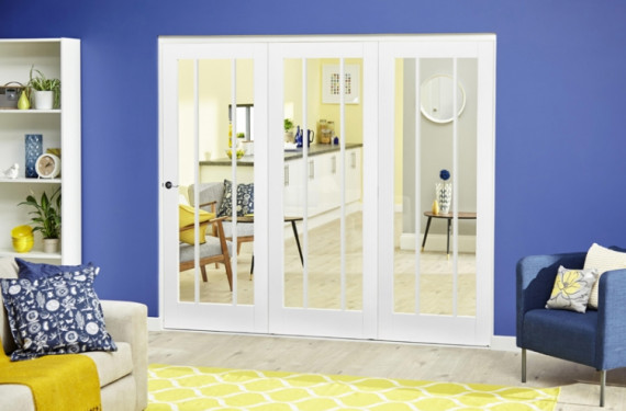 White Lincoln Roomfold Deluxe ( 3 X 762mm Doors)