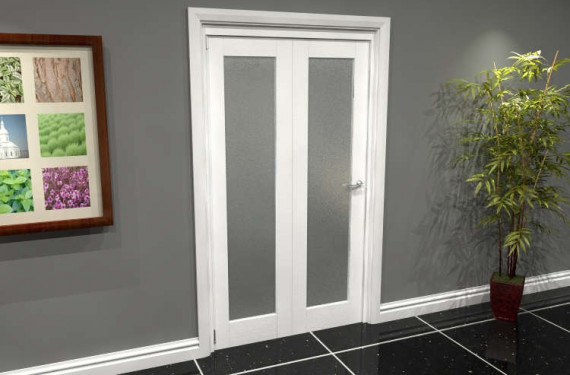 White P10 Frosted Roomfold Grande (2 + 0 X 533mm Doors)