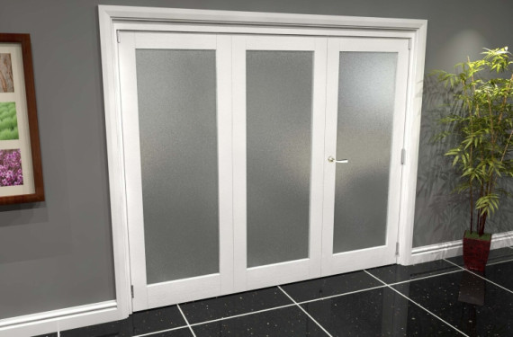 White P10 Frosted Roomfold Grande (2 + 1 X 762mm Doors)