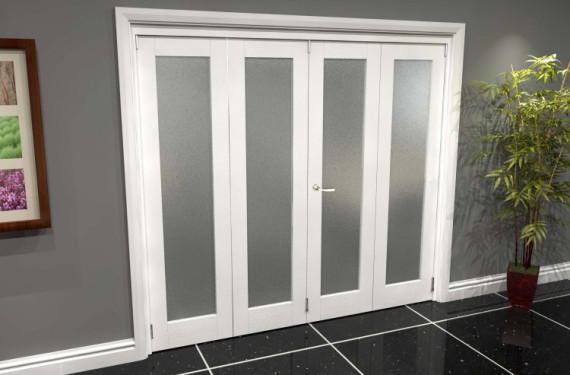 White P10 Frosted Roomfold Grande (2 + 2 X 533mm Doors)