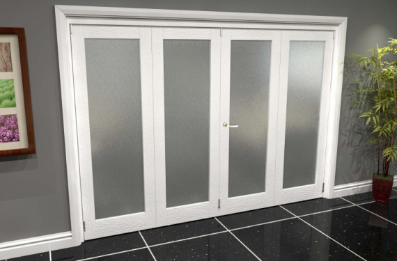 White P10 Frosted Roomfold Grande (2 + 2 X 686mm Doors)