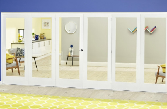 White P10 Roomfold Deluxe ( 3 + 3 X 686mm Doors )