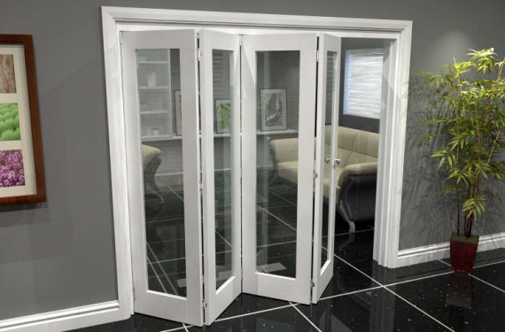 White P10 Roomfold Grande 2400mm (8ft) 4 + 0 Set
