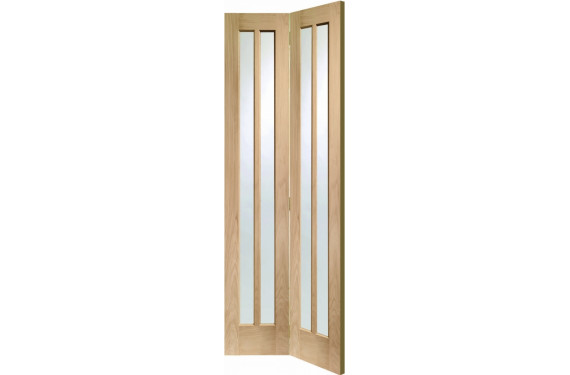 Worcester Oak Glazed Bifold Door