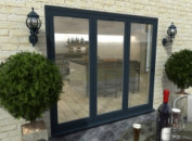 Climadoor Grey Aluminium Bifold Doors - Part Q Compliant Image