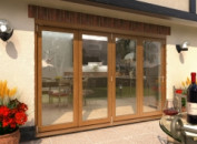 Supreme Solid Oak Bifolding Patio Doors - CLIMADOOR Image