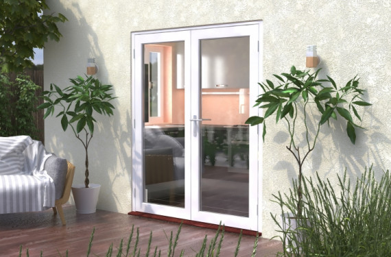1800mm (6ft) Classic White French Doors - Climadoor