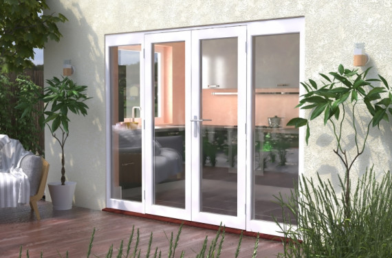 2700mm (9ft) Classic French Doors - 1500 Pair With 2 X 600mm Sidelights