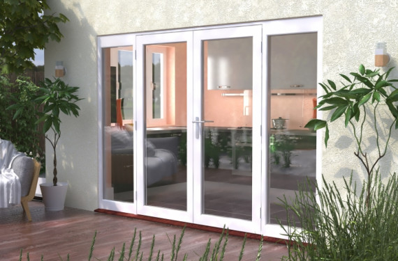 3000mm (10ft) Classic French Doors - 1800 Pair With 2 X 600mm Sidelights